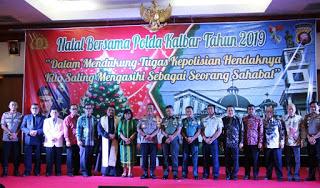 Natal Bersama Polda Kalbar, Irjen Pol Didi Haryono Sebut Ketaqwaan Menjadi Modal Dasar Pelaksanaan Tugas