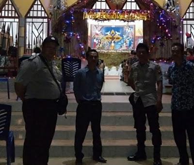 Polsek Bonti Laksanakan Pengamanan di Gereja Paroki St. Benediktus Kecamatan Bonti