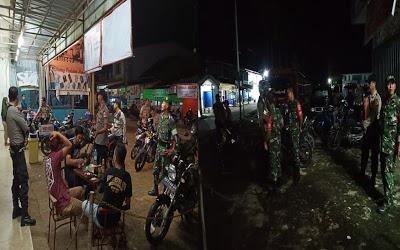 Patroli Gabungan Jelang Malam Pergantian Tahun di Kecamatan Meliau