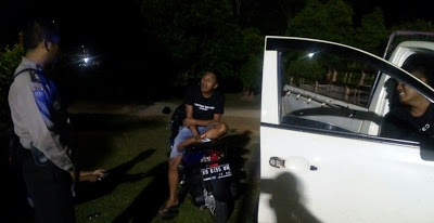 Patroli Malam Bhabinkamtibmas Polsek Kapuas