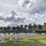Anggota yang Melaksanakan UKP Laksanakan Uji Bela Diri di Lapangan Rawa Bhakti