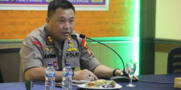 Kapolres AKBP Raymon M. Masengi S.IK MH Pimpin Anev Bulanan