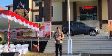Apel HUT Satpam ke-39 tahun 2020 Dihalaman Mapolres Sanggau