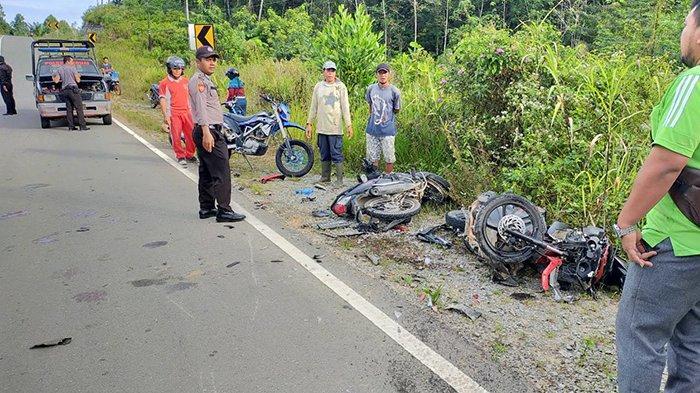 BREAKING NEWS - Kecelakaan Maut Dua Motor di Jalan Raya Beduai Sanggau, Satu Meninggal Dua Luka-luka