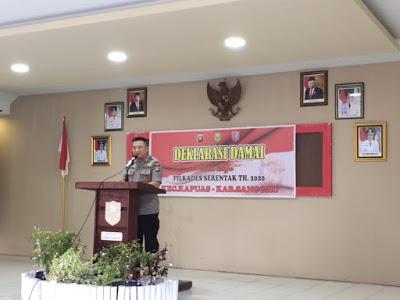 Kapolres Sanggau Hadiri Deklarasi Damai di Kantor Camat Kapuas