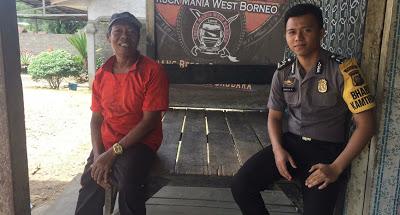 Briptu Margun Riandra Sampaikan Himbauan Kamtibmas Kepada Warga