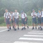 Bripka Sutikno Laksanakan Strong Point di Depan SMP Negeri  1 Kembayan