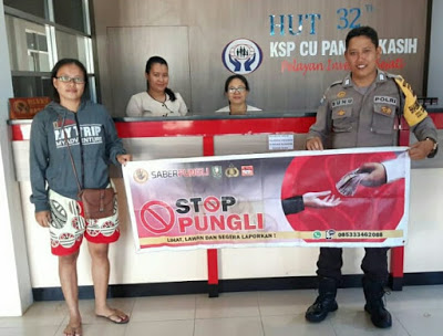 Bripka Sunu Himbau Stop Pungli di KSP CU Pancur Kasih