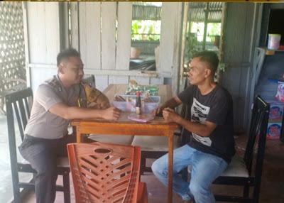 Brigpol Agus Ariyanto  Ajak Masyarakat Menjaga Situasi Kamtibmas di Desa Tanjung