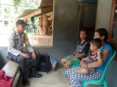 di Desa Binaan Brigpol Lasro Simandalahi Himbau Jangan Percaya Berita Hoax
