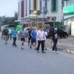 Kapolda Kalbar Olahraga pagi di Kota Sanggau