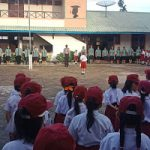 Bripka Warjianto Jadi Pembina Upacara di SDN Subsidi Pusat Damai
