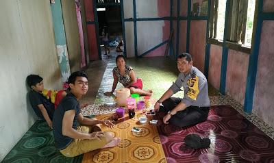 Brigpol Gusti Harbani DDS ke Rumah Warga Serta Sampaikan Pesan Kamtibmas