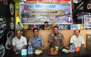 Ini Penyampaian Dialog Interaktif dalam giat Polres Sanggau Menyapa