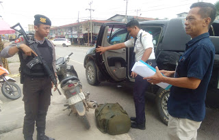Perketat Keamanan, Sat Sabhara Polres Sanggau Laksanakan Pengawalan Kas Bank
