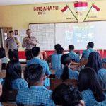 Kapolsek Toba Pimpin Giat Sosialisasi Rekruitmen Penerimaan Polri tahun 2020 di SMA Negeri 01 Toba
