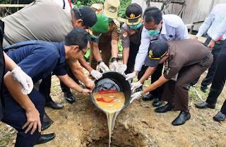 Polres Sanggau Musnahkan Sabu 1,49 Kg
