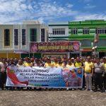 Kapolres Sanggau Pimpin Apel Persiapan Korve Dalam Rangka Mengantisipasi Virus Corona