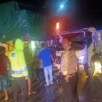 Dua Truk Tabrakan di Sanggau