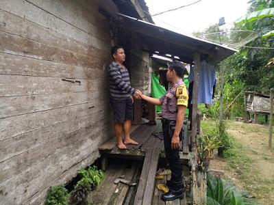 Patroli Dialogis Brigpol Tatak Budi Cahyono Sampaikan Himbauan Kamtibmas