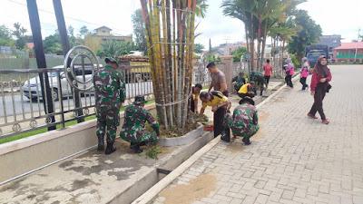 Antisipasi Virus Corona TNI dan Polri Gencar Laksanakan Kerja di Tempat Ibadah dan Terminal