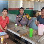 Patroli di Desa Binaan Brigpol Febri Tri Suhardi Sampaikan Himbauan Kamtibmas