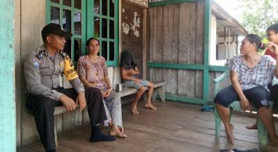 Patroli Dialogis Bhabinkamtibmas Sampaikan Himbauan kamtibmas