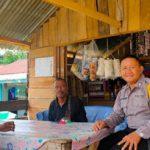 Sambang Warung Bhabinkamtibmas Sampaikan Himbauan Kamtibmas