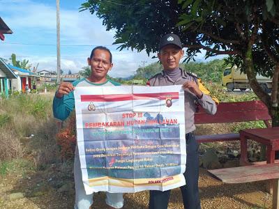 Bripka Mangun Suwarno Himbau Warga Jangan Membuka Lahan Dengan Cara di Bakar