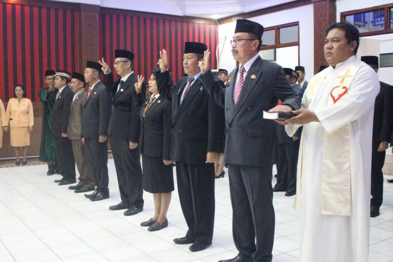 Bupati Sanggau Lantik Kepala Pelaksana BPBD Kab. Sanggau
