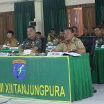 Bupati Sanggau Hadiri Rakornis TMMD ke-107 di Makodam XII/Tpr