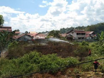 Kebakaran Lahan Kosong Di Jalan Masjid Agung Sanggau