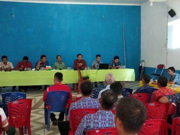Rapat Fasilitasi Batas Desa Melobok, Desa Sungai Jaman, Desa Balai Ingin dan Desa Bulu Bala