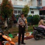 Bripka Saprin Gunawan  Laksanakan Strong Poin Untuk Antisipasi Kemacetan