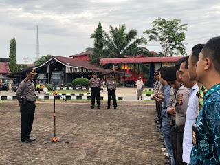 Polres Sanggau Laksanakan Pengamanan Sidang terkait Perkara TP. Membuka Lahan Dengan Cara Dibakar (Karhutla).