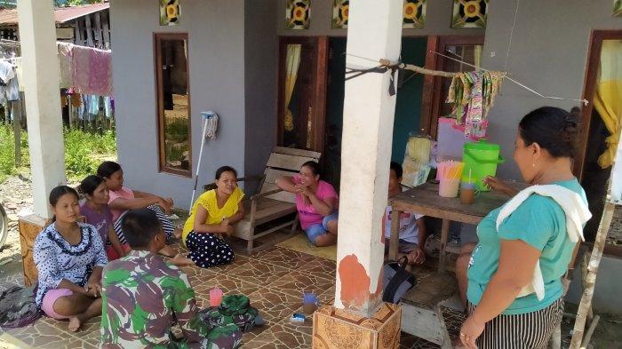 Satgas TMMD Kodim Sanggau Imbau Warga Waspada Covid-19