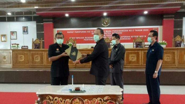 DPRD Sanggau Sampaikan Rekomendasi Atas LKPJ Bupati Sanggau Tahun Anggaran 2019