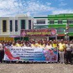 Kapolres Sanggau Pimpin Apel Persiapan Korve dalam Mengantisipasi Virus Corona