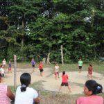 Personel Satgas TMMD Kodim Sanggau Galakkan Olahraga Bersama Warga Dusun Jonti