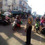 Strong Point Pagi Bripka Saprin Gunawan di Pasar Sentral Sanggau