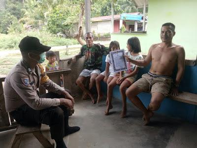 Brigpol Lasro Simandalahi Himbau Warga Agar Jangan Berkumpul Guna Mencegah Penyebaran Covid-19