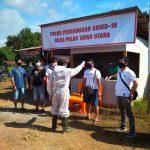 Upaya Deteksi Dini Sebaran COVID-19, Tim Gabungan di Pulau Tayan, Laksanakan Pemeriksaan Suhu Tubuh