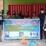 Polsek Tayan Hilir dan Babinsa Kawal Penyaluran Bantuan Sembako dari Tiga Perusahaan