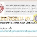 [SALAH] Insentif Virus Corona, Pemerintah Gratiskan Akses Internet – Covid19.go.id