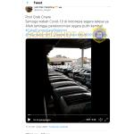 [SALAH] Kumpulan Mobil di Pool Grab Cinere karena Sopir Tidak Sanggup Bayar Kredit Saat Covid-19 – Covid19.go.id