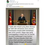 [SALAH] Erdogan Tak akan Tutup Mesjid di Turki Selama Pandemi Covid-19 – Covid19.go.id