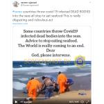 [SALAH] Beberapa Negara Membuang Jenazah Pasien Covid-19 Ke Laut – Covid19.go.id