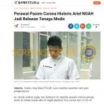 """[SALAH] Foto """"Ariel NOAH Jadi Relawan Tenaga Medis di tengah pandemi virus corona atau Covid-19"""" – Covid19.go.id"""