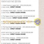 """[SALAH] """"Daftar list hotel di bali yg di jual, Hotel for SALE in BALI april 2020"""" – Covid19.go.id"""