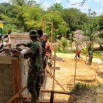 Personel Satgas kebut penyelesaian pembangunan tempat wudhu